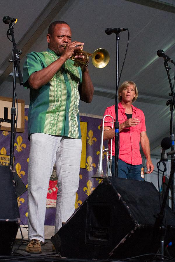 Leroy Jones on trumpet