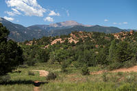 Pikes Peak seen from Garden of the Gods