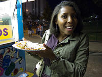 Bianca and funnel cake