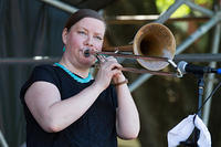 Katja Toivola on trombone