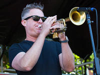 Jeremy Davenport on trumpet