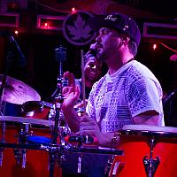 Luke Quaranta on conga drums