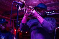 Antonio Gambrell on trumpet