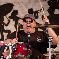 Kevin Stelly on drums