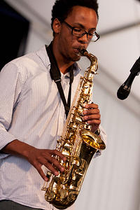 Jeronne Ansari on saxophone