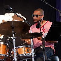 Darrian Douglas on drums