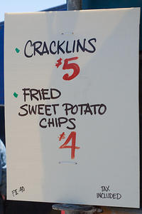 Fatty's Cracklins menu