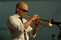 Irvin Mayfield on trumpet