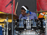 Terrence Houston on drums