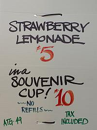 Strawberry Lemonade Menu