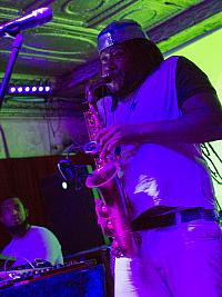 Khris Royal on saxophone