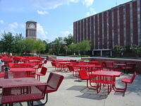 'Red tables' & Centennial Plaza