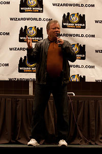William Shatner gestures