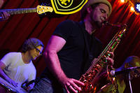 Brad Walker on saxophone